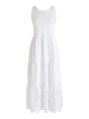 J.Crew eyelet trim tiered knit maxi dress