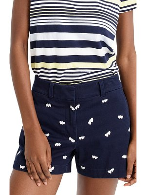 J.Crew heart embroidered chino shorts