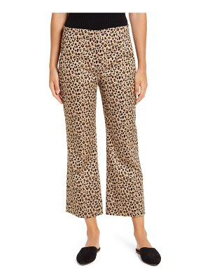 J.Crew leopard print chino crop flare pants