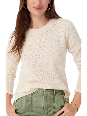 J.Crew pointelle cashmere sweater