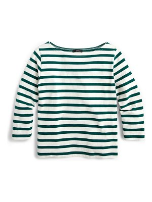 J.Crew structured stripe crop tee