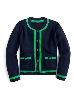 J.Crew tipped sweater jacket