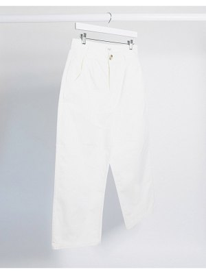 JDY cropped pants in white