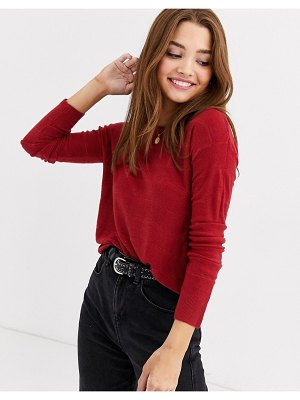 JDY knit sweater in red