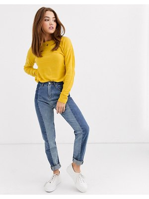JDY knitted sweater in mustard-red