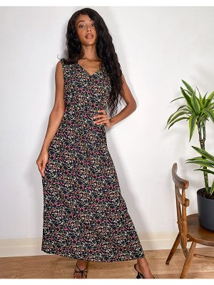 JDY maxi dress in ditsy floral-multi