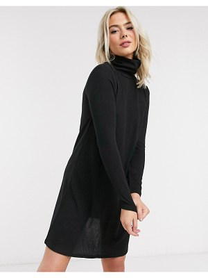 JDY mini dress with high neck in black