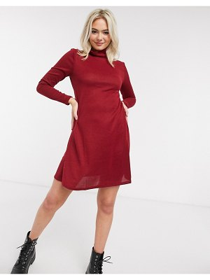 JDY mini dress with high neck in red