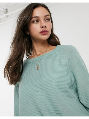 JDY ribbed sweater with crew neck in blue