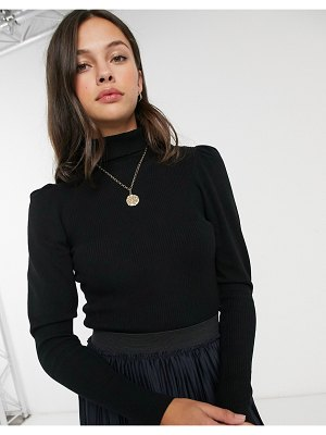 JDY sweater with roll neck in black