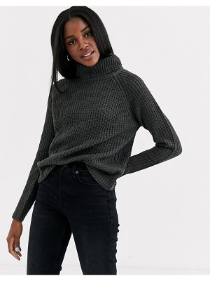 JDY sweater with roll neck in dark gray