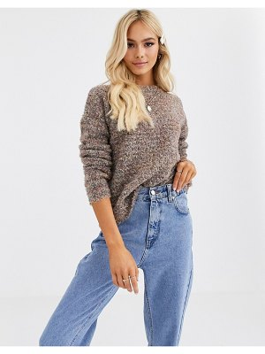 JDY textured sweater in beige