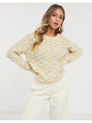 JDY textured sweater in cream