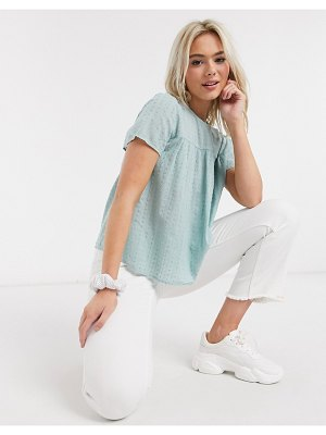 JDY top with textured fabric in blue