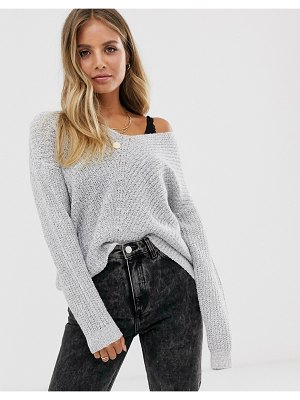 JDY v-neck rib knitted sweater-cream