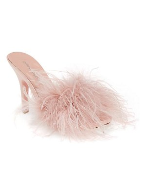 Jeffrey Campbell candie feather slide sandal