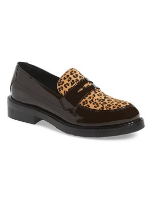 Jeffrey Campbell hendry genuine calf hair penny loafer