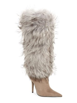 Jeffrey Campbell vedet faux fur knee high boot
