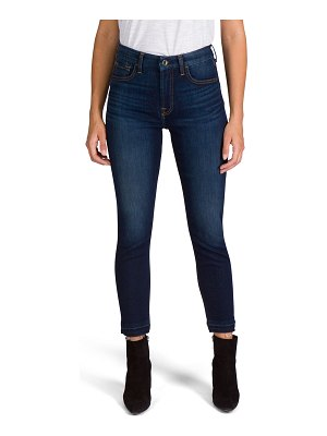 Jen7 High-Rise Ankle Skinny Jeans with Released Hem