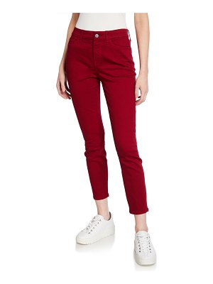 Jen7 High-Rise Cropped Ankle Skinny Jeans