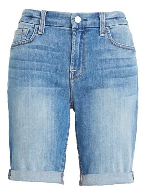 Jen7 high waist denim bermuda shorts