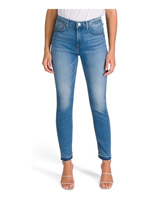 Jen7 Mid-Rise Ankle Skinny Jeans with Released Hem