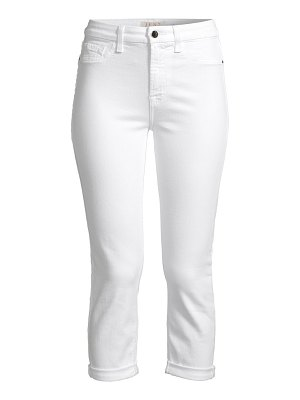 Jen7 rolled cuff straight cropped jeans