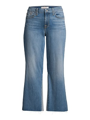 Jen7 sculpting contrast wide-leg cropped jeans