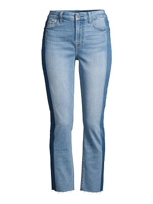 Jen7 shadow-seam straight ankle jeans