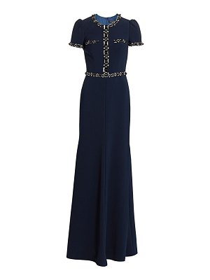 Jenny Packham beaded stretch crepe gown