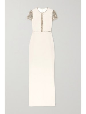 Jenny Packham cosmo embellished tulle and cady gown