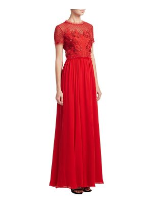 Jenny Packham embroidered chiffon gown
