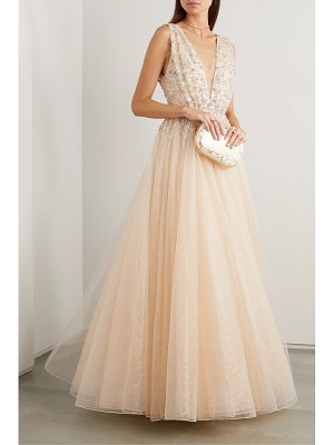 Jenny Packham jeanne embellished glittered tulle gown