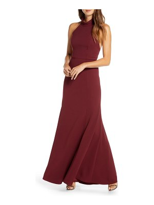 Jenny Yoo petra halter crepe a-line gown