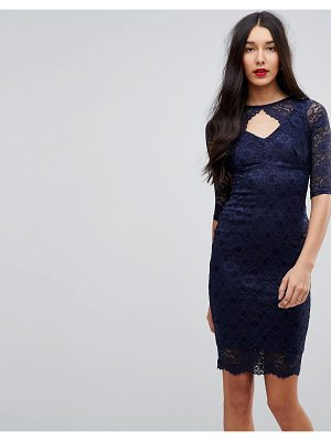 Jessica Wright Cut Out Lace Midi Pencil Dress
