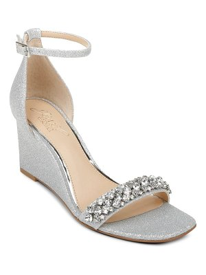 JEWEL BADGLEY MISCHKA peggy ankle strap wedge sandal