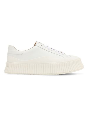 Jil Sander 40mm vulcanized leather sneakers
