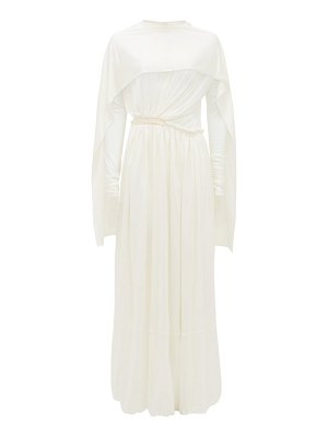 Jil Sander caped silk-jersey maxi dress