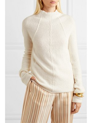 Jil Sander cashmere, fleece-wool and silk-blend sweater