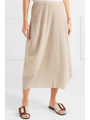 Jil Sander checked crepon midi skirt