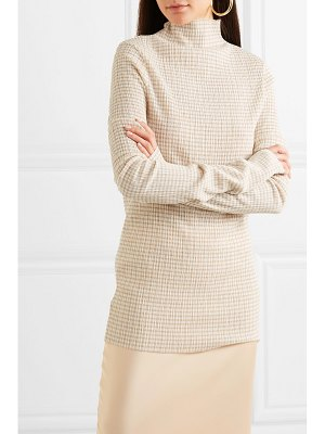 Jil Sander checked crepon turtleneck top