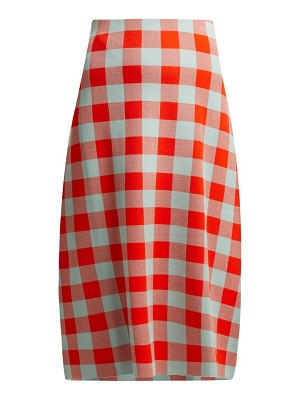 Jil Sander checked midi skirt