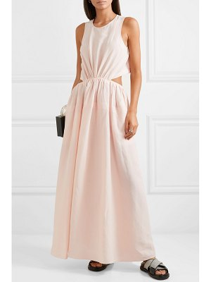 Jil Sander cutout canvas maxi dress