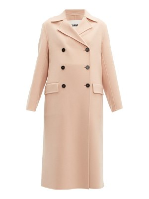 Jil Sander double breasted cashmere coat