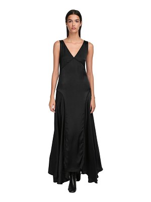 Jil Sander Fluid satin long dress
