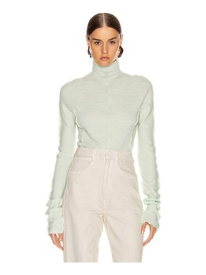Jil Sander high neck long sleeve top