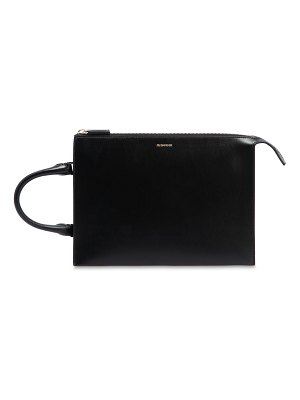 Jil Sander Leather clutch with handle