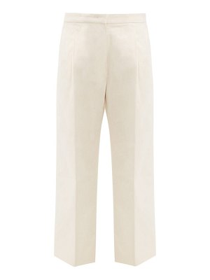 Jil Sander speckled-cotton straight-leg trousers