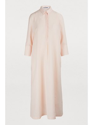 Jil Sander Linen-blend maxi dress