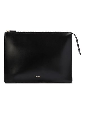 Jil Sander Maxi leather clutch